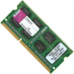 MEMÓRIA PARA NOTEBOOK 2 GB DDR3 / 1333 KINGSTON