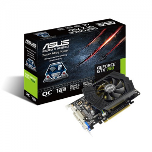 Placa de vídeo VGA ASUS GeForce GTX750 1GB GDDR5 128-Bits 75W PCI-E 3.0 GTX750-PHOC-1GD5